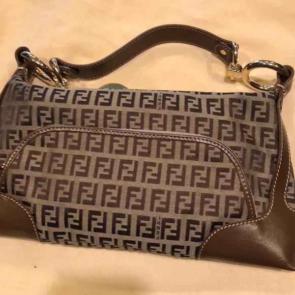 304eb03e Like New Tan Leather Authentic Fendi Purse